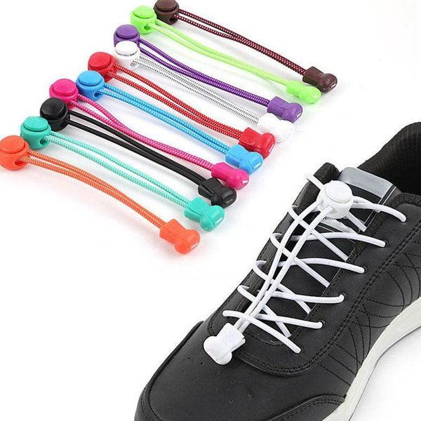 Plastic Locking Shoe Laces Elastic Sneaker Shoelaces Shoestrings Running/Jogging/Triathlon Stretching Lock lace 23 Colors