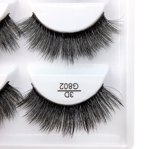 5pairs/set False EyeLashes 5 Pairs 3D Natural Long Fake Eyelashes G802 Handmade Makeup Tools Accessories
