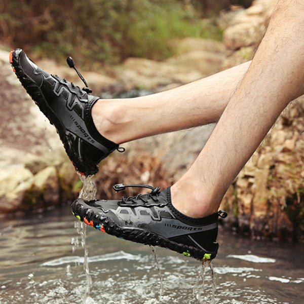 2019 New Casual Men Water Shoes Sports Aqua Barefoot Quick Dry Breathable Non-Slip for Outdoor Boating Beach BS