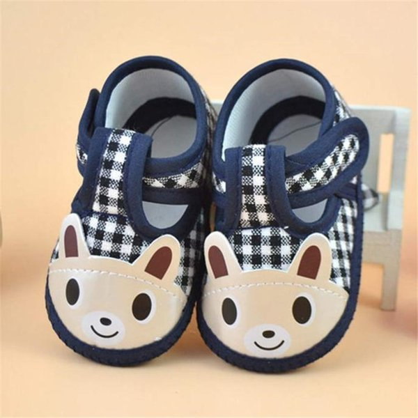 Newborn Girl Boy First Walker Soft Sole Crib Toddler Shoes Canvas Sneaker NDA84L16