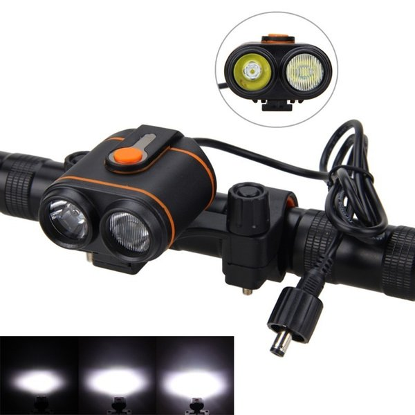 Front Bike Lamp 10000lm 2x Xm-l2 Led Bicycle Light Headlamp Torch Rechargeable Bike Headlight +16000mah Battery Pack+charger