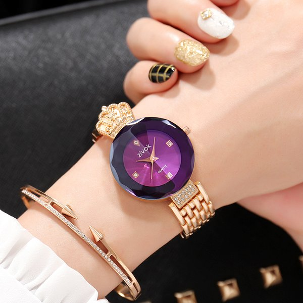 zivok Brand Luxury Women Bracelet Watches Rose Gold Fashion Quartz Wrist Watch Clock Women Relogio Feminino Girls Lovers Watch Y18110310