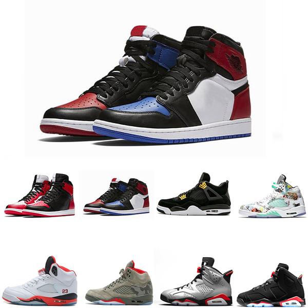 2019 Herren Schuhe Größe 13 Vintage 1 s 4 s 5 s 6 s 11 s Herren Basketball Schuhe Classic schwarz weiß blau Camouflage Herren Trainer Größe 40-47