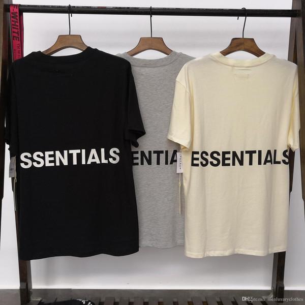 ESSENTIALS OS Herren Übergröße T-Shirts Sommer Beiläufige Lose NEBEL High Street Tops