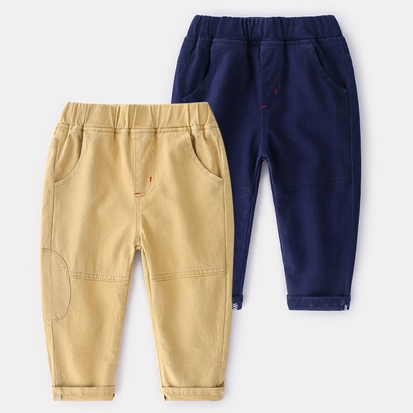 Baby Boys Elastic Cotton Casual Pants With Two colors From China Supplier