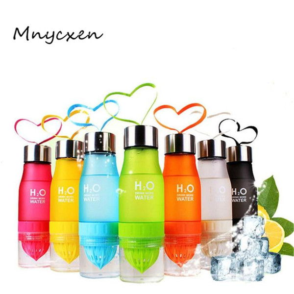 Hirmoly AJ Fashion H2O Fruit Juice Infuser Portable Plastic Water Bottle for Outdoor Sports Shaker 3L45