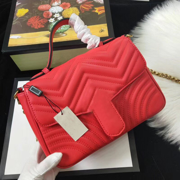 Sıcak Satış Üst Kalite Moda Tasarımcısı Kadınlar Çantaları Çanta Cüzdan Deri Zincir Çanta Crossbody Omuz Çantaları Messenger Tote Çanta 5colors