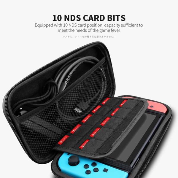 Carry almacenamiento portátil caja para Nintendo interruptor de la caja de la consola Bolsa durable tarjeta de juego duro de almacenamiento EVA bolsa de cáscara bolsa de transporte bolsa protectora