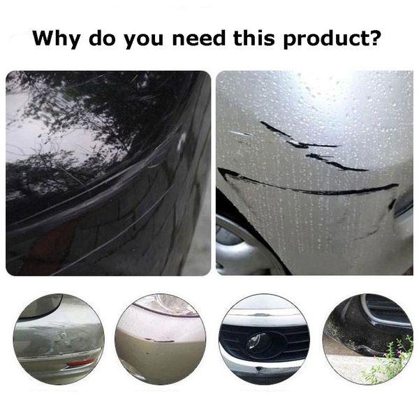 1 Pair Car Rubber Front+Rear Bumper Scratch Protector Strip Corner Guard Sticker