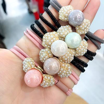 20190823 Metal pearl bow double leather band hairline