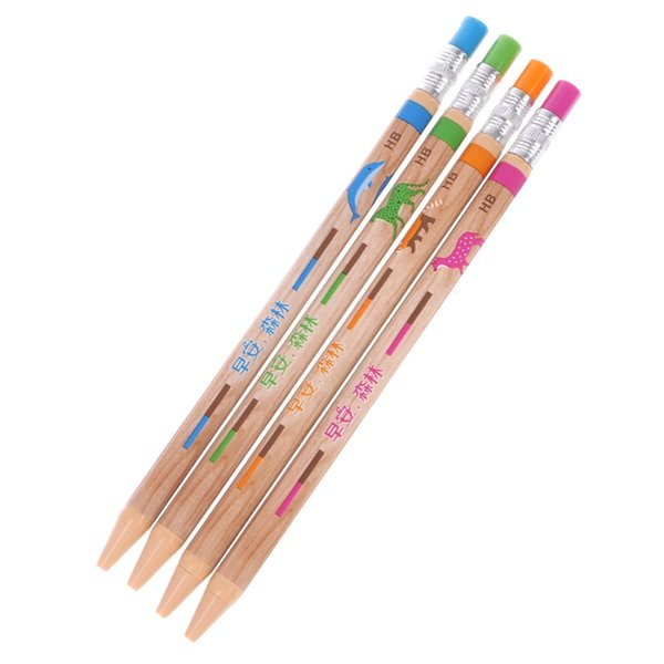 1 Set 2.0mm Plastic Automatic Mechanical Pencil With Sharpener Writing Stationery Gift