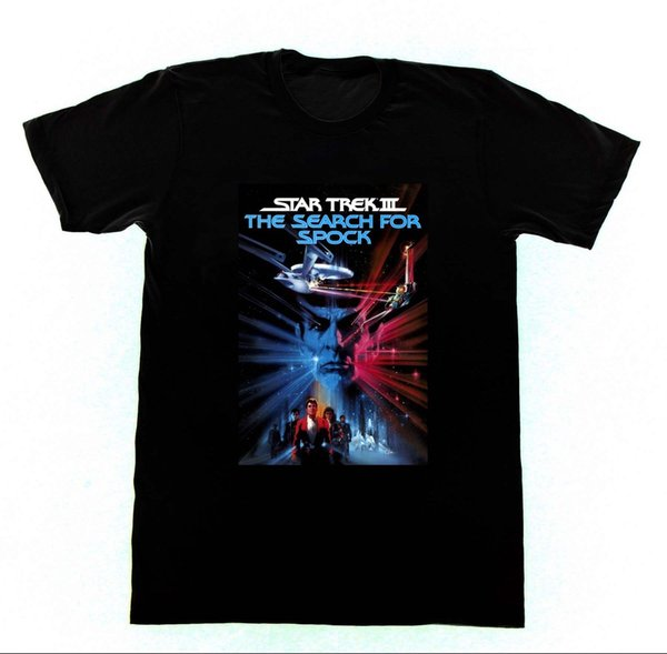 Star Trek 3 The Search for Spock Tshirt 115 Neil DeGrass Shatner Nimoy Sci FiFunny free shipping Unisex Casual top
