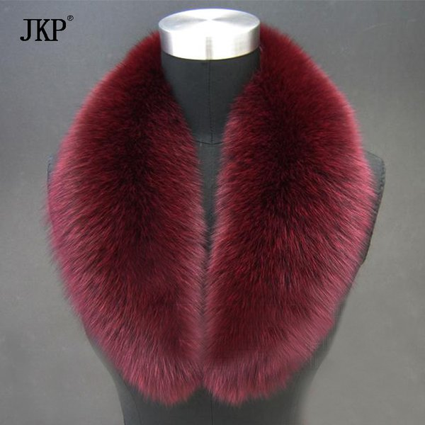 Real fox Fur Collar Scarf Womens Shawl Wraps Neck Warmer Stole Hot sale Ring Scarf