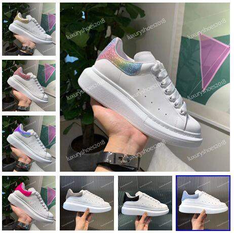 2019 Luxury Women Mens Casual Shoes Sneakers Name Branded Leather Suede Platform Oversized Sole Sneakers Shoes Dress Walking White Chaussure