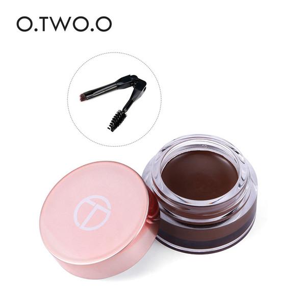 O.TWO.O Gel per sopracciglia per creare sopracciglia 3D Trucco per capelli Fibra per sopracciglia resistente all'acqua impermeabile con pennello
