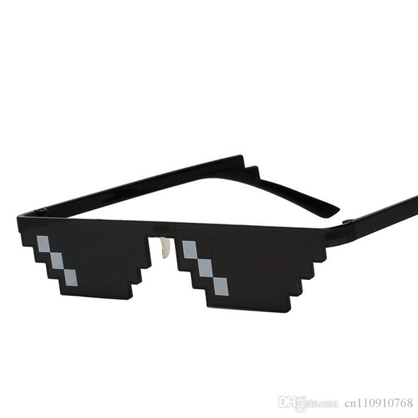 HSH01 Unique Vintage Mosaic Party Sunglasses Men Cool Puls Size 8 Bits Pixel With Nose Pads Sunglass EYEWEAR 1 PIECE FREE DROP Shipping