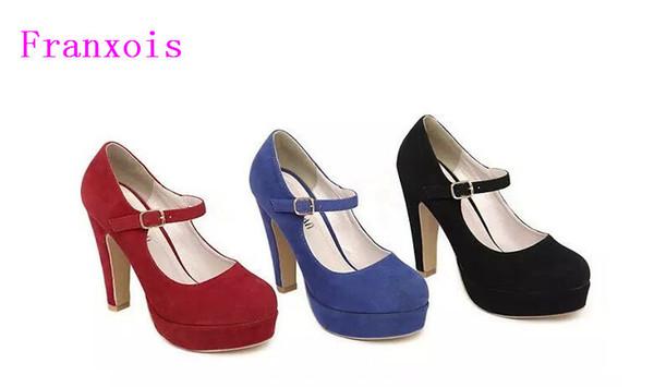 Women's Pumps 2019 Spring Autumn Single Shoes Princess Shoes Elegant Ultra Thick Women High-heeled Shoes