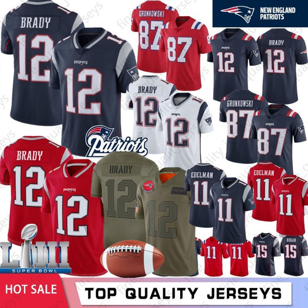 12 Tom Brady New 87 Rob Gronkowski Patriot Jersey 11 Julian Edelman 26 Sony Michel 10 Josh Gordon 14 Cooks Dont'a Hightower Gilmore Amendola