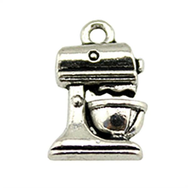 Fascini del pendente della macchina del caffè della macchina di caffè di fascino 150pcs per monili che fanno incantesimo antico della macchina del caffè dell'argento 10x16mm