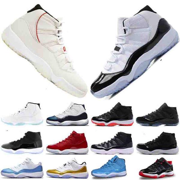 Platin Tonu Concord 45 11 XI 11 s Kap ve cüppe Erkekler Basketbol Ayakkabıları Balo Gece Salonu Kırmızı moda lüks erkek kadın tasarımcı sandalet ayakkabı