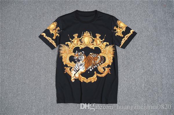 NOUVEAU Tide Brand T-shirt à manches courtes pour femmes pour hommes Dimond Print 100% coton T-shirt pour hommes cool Mode d'été Street Top M-3X