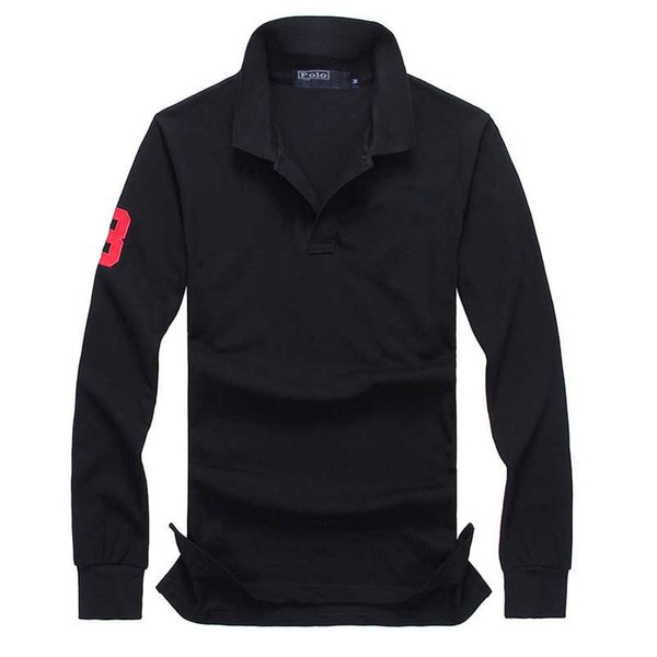 best selling Mens Designer T Shirts Polo Long Sleeve Crocodile Embroidery Clothing Big Small Horse Male Lapel Luxury Shirt Ralph Cotton Brand Print Homme