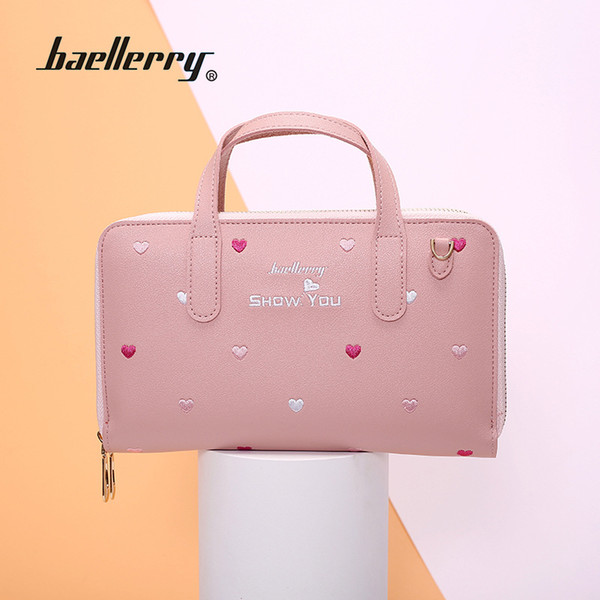 New ladies bag Korean version of embroidered love small square bag wild small fresh hand lift oblique bag N1902