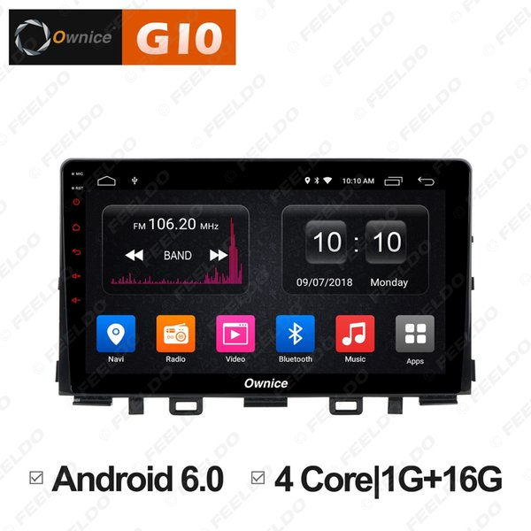 """FEELDO 9"""" Android 6.0 4-Core/DDR3/Support 4G Dongle Car Media Player With GPS/FM/AM RDS Radio/USB/SD For Kia Rio 2017 2018 (1din)#5887"""