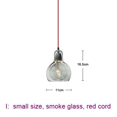 small, smoke glass, red cord