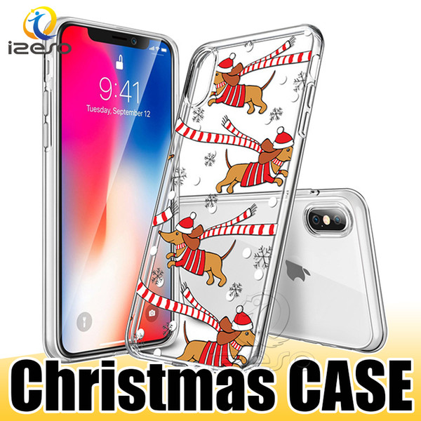Christmas Phone Case Iphone Xr.Clear Tpu Christmas Phone Case For Iphone Xs Max Xr X X 8 Samsung Note 9 S9 S9 Plus Huawei P20 Cover Cases Create A Cell Phone Case Hard Cell Phone