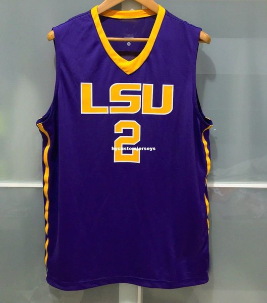 Cheap wholesale LSU TIGERS #2 BASKETBALL JERSEY PURPLE ben simmons MENS JERSEYS T-shirt vest Stitched Basketball jerseys Ncaa