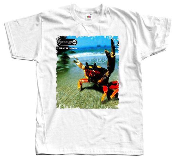 Prodigy - La camiseta blanca de Fat of the Land en todas las tallas S-5XL 100% algodónALICE EN CADENAS CAMISETA