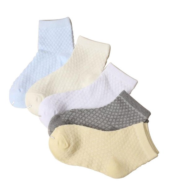 5 Pairs 0-8 Years Spring Summer High Quality Children Socks Boy Girl Cotton Casual Socks Baby Fashion Breathable Mesh Socks
