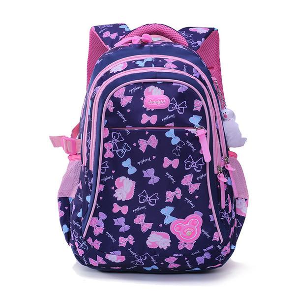 Children School Backpacks For Girl Nylon Princess School Bag Waterproof Kids Satchel Schoolbag Mochila Escolar Printing Backpack Y190530