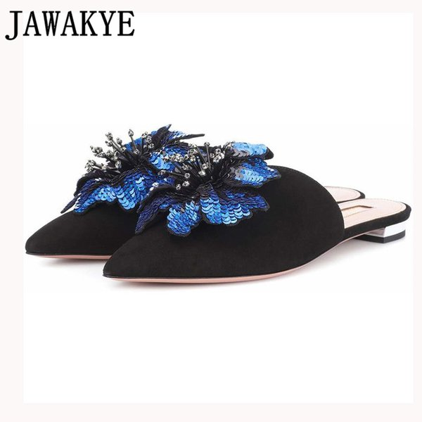 Primavera verão chinelos mulheres criança camurça menina mulas lantejoulas flores franja de cristal flat flip flops casuais sapatos de praia acolhedoras mulheres