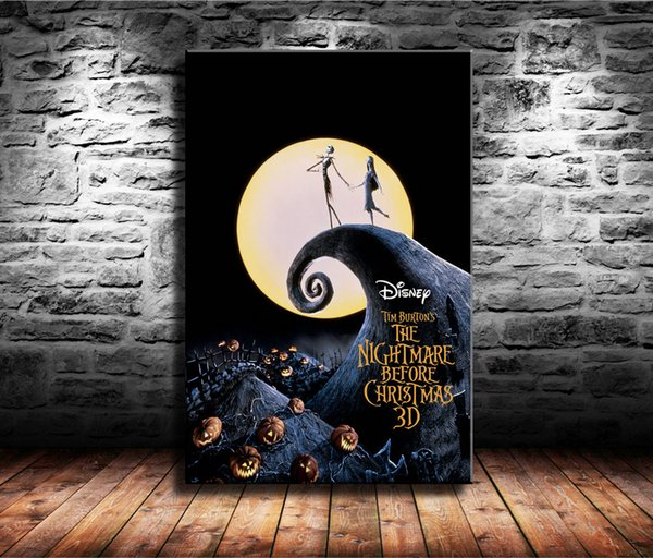 1 Pieces Canvas Prints Wall Art Oil Painting Home Decor The Nightmare Before Christmas (Unframed/Framed) 24x36.