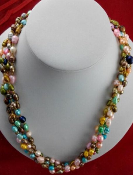 FREE SHIPPING - + Pearl necklace Europe exotic pearl beads retro models manufacturers