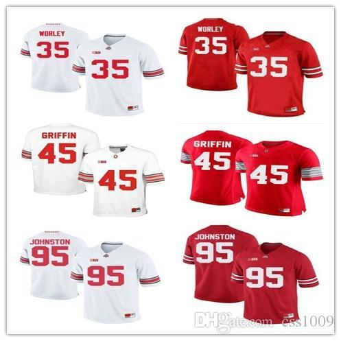 1b786d2ae Personalized customize Ohio State Buckeyes College Football Jerseys 95  Johnston 35 Hyde 47 Hawk 45 Griffin