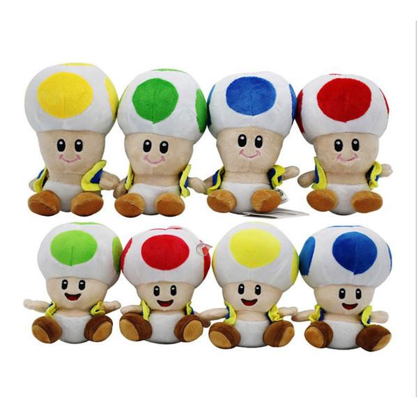 17cm/7 inch Super Mario Plush toys cartoon Super Mario Mushroom head Stuffed Animals for baby Christmas gift