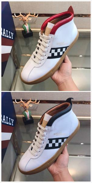 Scarpe sportive europee da uomo alte stivali sportivi casuali scarpe fatte a mano in pelle martin stivali