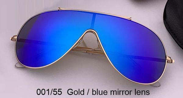 lentille miroir or / bleu