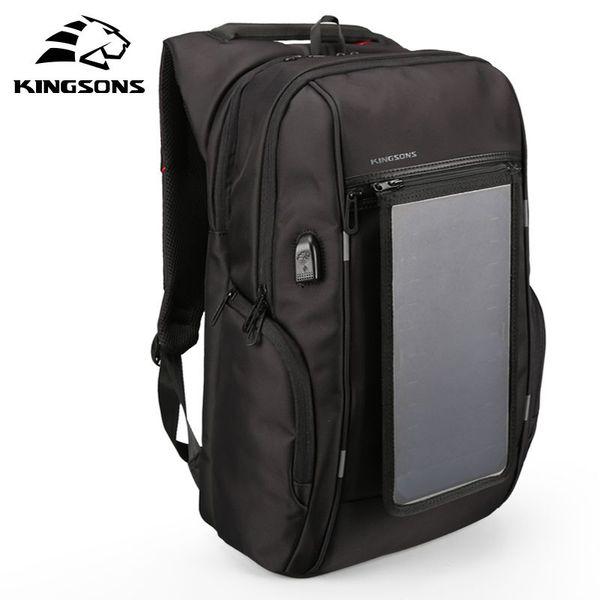 Zaini per pannelli solari 15.6 pollici Borse per laptop per ricarica conveniente per zaini Caricabatterie solare da viaggio
