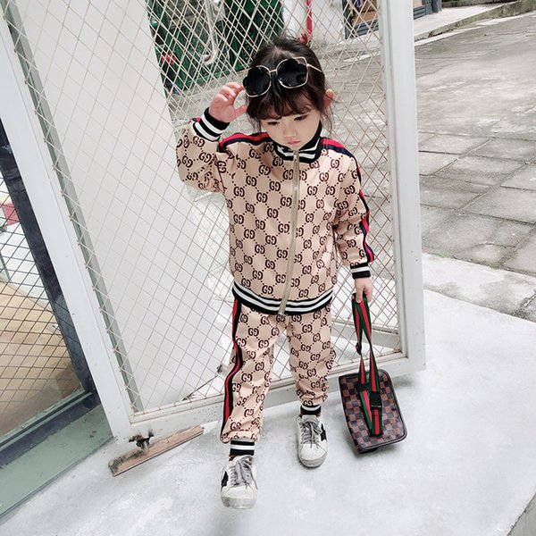 Abbigliamento firmato da bambino crea nuove tute di stampa di lusso Giacche da lettera di moda e jogging Felpa stile casual sportivo da bambina