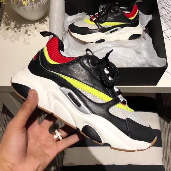 Trainer Mens Technical Echtes Leder Sneakers Fashion Sneakers Beliebte Stil bequeme Schuhe mit Original Box Größe 38-45