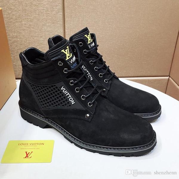 Zapatos para hombre de las zapatillas de deporte de lujo para deportes con la caja original Zapatos deportivos vierten Hommes alta calidad Comfort tobillo de la manera botas para hombre Zapatos Venta