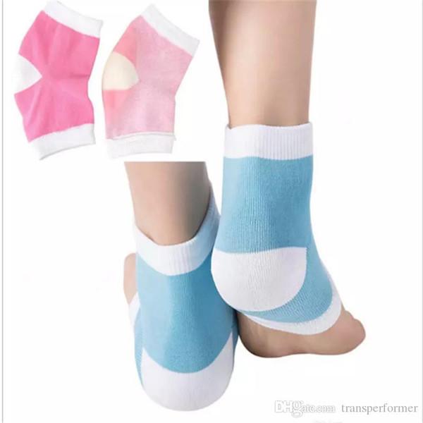 2 Colors Gel Heel Socks Moisturing Spa Gel Socks feet care Cracked Foot Dry Hard Skin Protector 2018101605