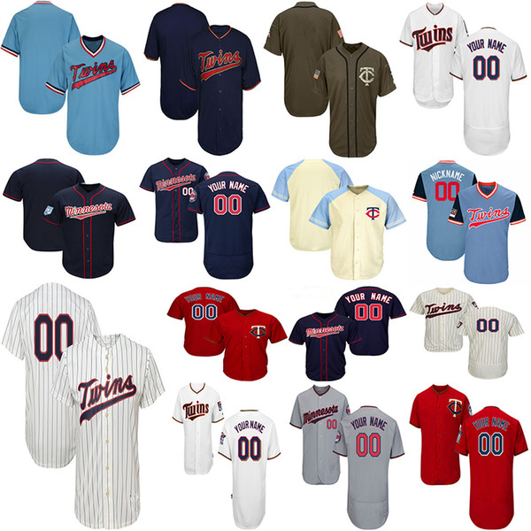 outlet store d2a2f 947ef Customized Minnesota Twins Baseball Jerseys Mens Women Youth Miguel Sano  Jersey Byung Ho Park Byron Buxton Jersey Harmon Killebrew UK 2019 From ...