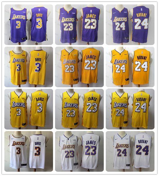 2019 19 20 New Los Angeleslakers Nbabasketball Jersey Lebron James 23 Anthony Davis 3 Kobe Bryant 24 Cityedition Jerseys Golden From Ink05 17 65