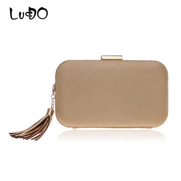 LUCDO Fashion Tassel Small Clutch Bag Female Evening Bags Woman Wedding Velvet Soft Material Party Hand Bags Women Shoulder Bag