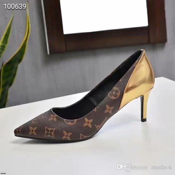 20MM signore a punta le dita dei piedi Ufficio pompe signore sexy sottile calza Flock partito tacco alto più il formato 34-41 di colore solido stiletti LISY1